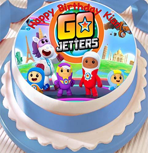 Go Jetters - Decoración comestible para tartas (19 cm), diseño de fondant