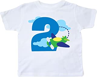 2nd Birthday Airplane Pilot Toddler T-Shirt
