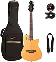 Godin A12 2-Chambered Acoustic-Electric 12 String Guitar with Gig Bag, Tuner and Strap, Natural