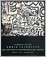 ポスター アニー リーボヴィッツ キースへリング 額装品 アルミ製ベーシックフレーム(シルバー)