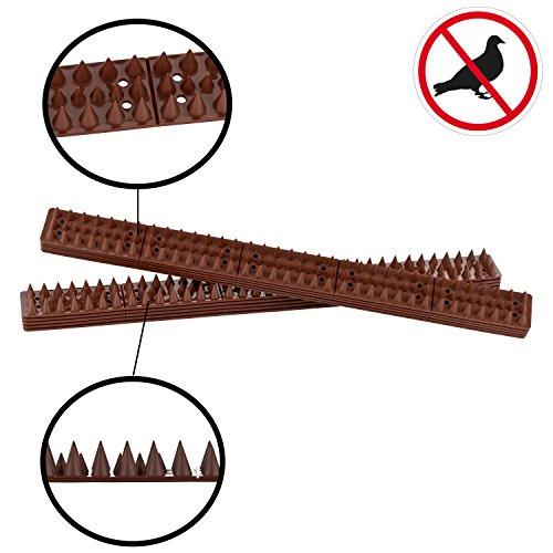 Lifetime GARDEN Vogelabwehrspitzen   Taubenabwehr   Vogelspikes   4,90m   10 Panels á 49cm x 4,5cm   auch für gewölbte Flächen (4,9m=10 Stück)