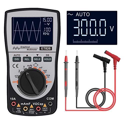Mustímetro de osciloscopio digital MustOol Multímetro 2 en 1 Muestreo de A/D de alta velocidad analógico inteligente A/D 200K Places de prueba