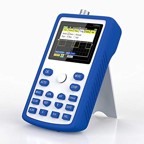 Osciloscopio, Osciloscopio Digital Portátil de Mano con Pantalla de 2,4 Pulgadas Frecuencia de Muestreo de 500MS / S, Ancho de Banda de 110 MHz 1 KHz / 3,3 V Osciloscopios de Medición Multiusos
