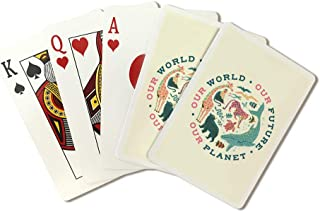 Young Conservationist - Our World Our Future Our Planet - Animal Montage - Contour 105561 (Playing Card Deck - 52 Card Pok...