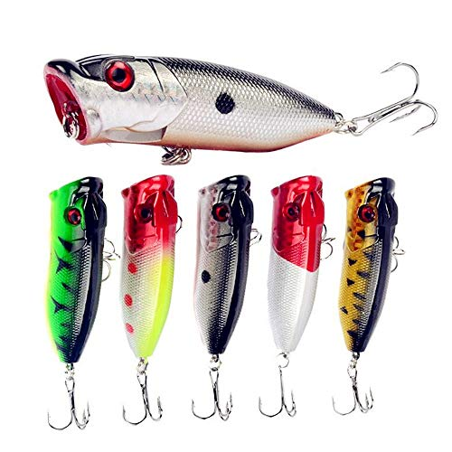 A-SZCXTOP Fishing Lures Topwater Floating Popper...