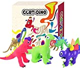 UKEN Create Your Own Dino Models with Modeling Clay, Dinosaur Clay Craft Kit for Kid-Build 12 Dinosaur Figure with Air Dry Clay Art & Craft for Boys & Girls Magic Clay for Kids Ages 6+