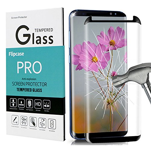 Galaxy S8 Screen Protector,Galaxy S8 Tempered Glass,[Case Friendly][Anti-Bubble][3D Curved Glass] Tempered Glass Screen Protector for Samsung Galaxy S8