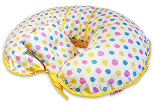 Oreiller d'allaitement, conception unique 4 en 1 avec mini oreiller et harnais GRATUIT (multicolore)