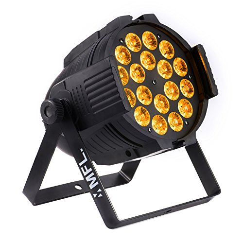MFL LED Par Light 18x15W RGBW + Amber DJ Lights for Party Nightclub Stage Concert