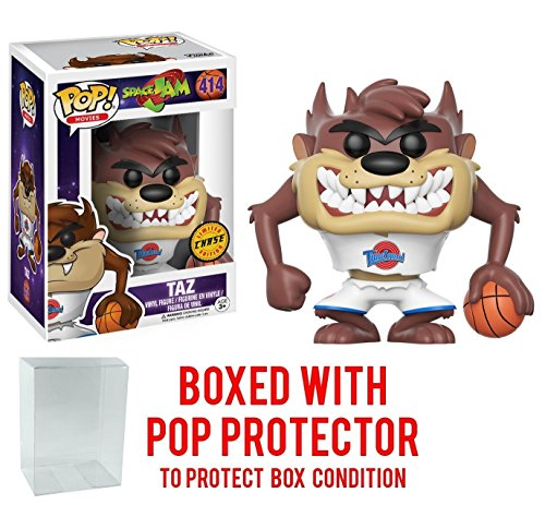 Pop Protector Filme: Space Jam - Taz Vinyl Figur (Gebündelt Mit Box Protector Case)