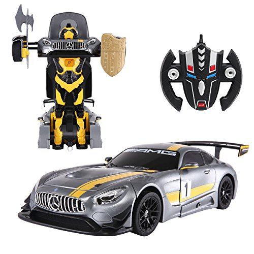 COSTWAY 2,4G 1:14 R / C Transformator Roboter-Auto Ferngesteuert Transformers Auto & Robot verwandelbar RS