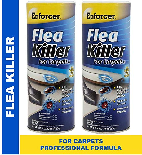Enforcer Flea Killer for Carpets 20 ounce EFKOB203 (Pack of 2) Ocean Breeze Fragrance