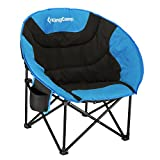 KingCamp Steel Frame Padded Outdoor Moon Saucer Camping Leisure Chair Summer..
