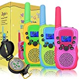 Jojoin 3 Pack Walkie Talkie Kids, 2 Way Radio with Compass and Backlit