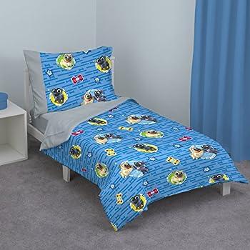 Disney Puppy Dog Pals 4 Piece Toddler Bed Set Blue/Red/Yellow/Green