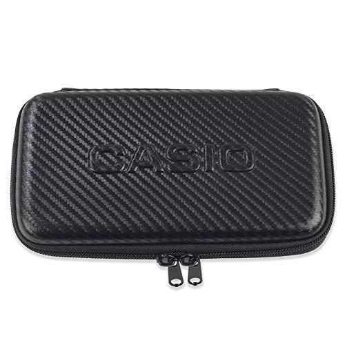 Casio Graph-Case, Schutztasche für Grafikrechner, schwarz, carbon design, mit Innentasche für Zubehör