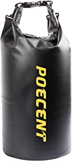Poecent Dry Bag,20L Roll Top Sack Keeps Gear Dry Kayaking, Rafting, Boating, Swimming, Camping, Hiking, Beach, Fishing,1 Pack