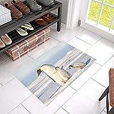 HUJITIAN Best Doormat Adorable Emperor Penguin Family Non-Slip Indoor and Outdoor Welcome 23.6'x 15.7' Lx Floor Mats Best Floor Mats Mat Flooring Long Doormat