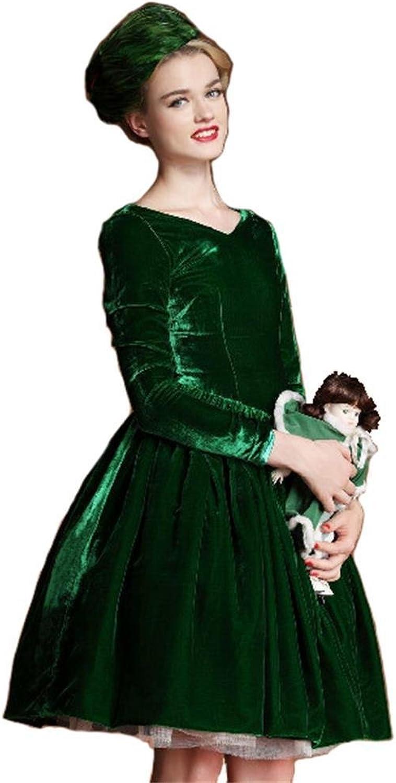 Angel&Lily Long Sleeved Velvet Dress plus1x10x
