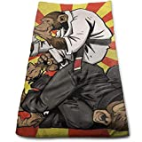WefyL Brazilian Jiu Jitsu 100% Polyester Towels Ultra Soft & Absorbent Bathroom Towels -...