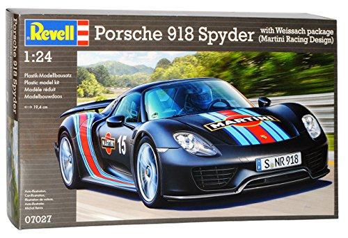 Revell Porsche 918 Spyder Weissach Package Martini Design Schwarz 07027 Bausatz Kit 1/24 Modell Auto