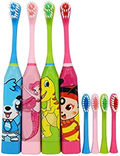 Children's Electric Toothbrushes Soft Brush Waterproof Body Cute Cartoon Electric Toothbrushes for Girls Boys.