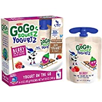 4-Count GoGo squeeZ Made from Real Yogurt & Fruit Berry, 3 oz
