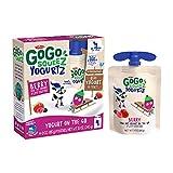 GoGo squeeZ yogurtZ Berry, 3 oz. (4 Pouches) - Kids Snacks Made from Real Yogurt & Fruit - Pantry Friendly Snack, No Fridge Needed - No Preservatives - Kosher Certified - Gluten Free Snacks for Kids