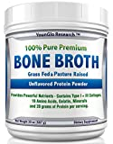 Bone Broth Protein Powder from Grass Fed Beef - 20oz - High in Collagen and Gelatin - Paleo and Keto Friendly - (1 Pack Unflavored)