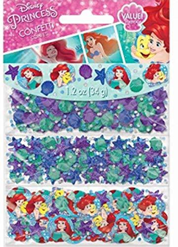 Amscan 361620 Confetti Disney Ariel Dream Big Collection 1 pack Party Accessory