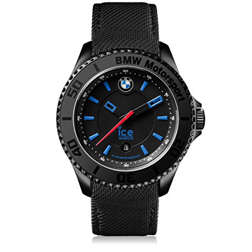 Ice-Watch - BMW Motorsport (steel) Black - Reloj nero para Hombre con Correa de cuero - 001111 (Medium)