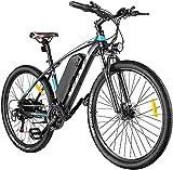 VIVI E-Bike Mountainbike, 26' Elektrofahrrad Pedelec, 350W Electric Bike mit Abnehmbarer 10,4 Ah Lithium-Ionen-Batterie, 21-Gang-Getriebe (27.5 Zoll-Blau)