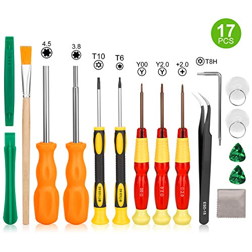 Nintendo Screwdriver Set-Younik Triwing Screwdriver for Nintendo 17 in 1 Professional Screwdriver Game Bit Repair Tools Kit for Nintendo Switch/Nintendo Switch Lite/JoyCon/DS /DS Lite /Wii /GBA
