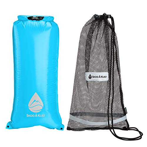 Skog Å Kust SnorkelSåk 2-in-1 Mesh Snorkel Bag with Removable Interior Waterproof Dry Bag | Blue