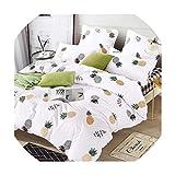 sensitives Bedding Set Pure Cotton Pure Color A/B Double Sided Pattern Cartoon Simplicity Bed Sheet Quilt Cover Pillowcase 4 7pcs,T-1019,EBPO