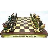 WUQIUYU Juego de ajedrez Resina 36 * 36 * 6 CM Juego Infantil Ajedrez Figura de Resina de ajedrez de Dibujos Animados Bonito Regalo