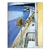 VCFHU Henri Matisse Famoso Arte De La Pared La BahíA De Niza Lienzo Pintura Al óLeo Poster De Paisaje Impresiones HabitacióN De La Casa Decoracion Interior Cuadros 50x70cm Sin Marco