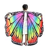 TMEOG Kind Kinder Jungen Mädchen Schmetterlingsflügel Pixie Poncho Kostümzubehör...