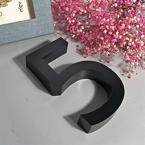 W-L Números Casa Exterior Negro Metal 3D Moderno de la casa el...