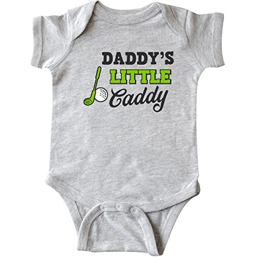 inktastic Daddy's Little Caddy with Golf Infant Creeper 6 Months Heather Grey