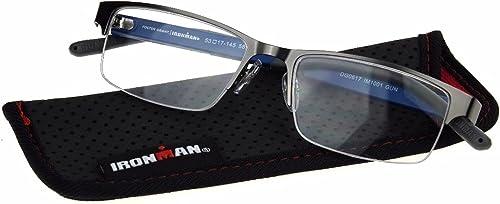 discount FosterGrant discount discount Ironman IronFlex IM1001 Men's Reading Glasses Semi Rimless Gun outlet online sale