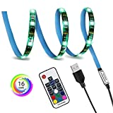 Vansuky - Cinta de luz LED con USB, 30 ledes, 0,5 m, RGB flexible LED, chipse...