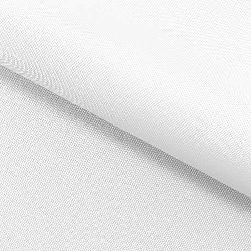 NOVELY Oxford Pro | Polyesterstoff 210D | anschmiegsam nachgiebig | Meterware Segeltuch Weiss