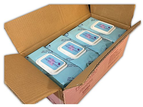 """Prima Wipes Adult Washcloths, Bulk 12 Pack Case with 48 Extra-Large 9""""x13"""" Wipes Per Pack"""