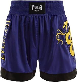 Shorts Everlast Muay Thai Bordado - Azul-Preto