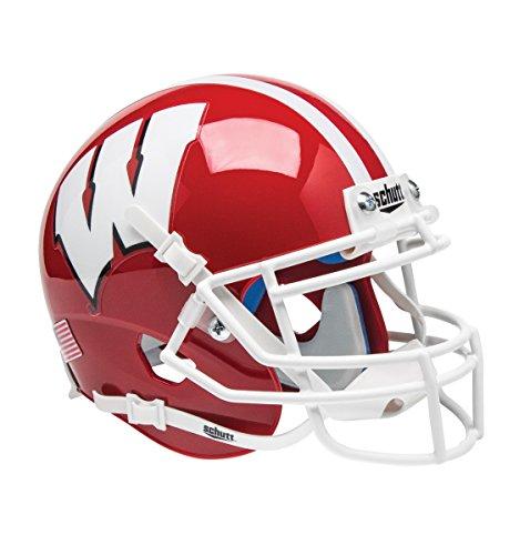 Schutt NCAA Wisconsin Badgers Mini Authentic XP Football Helmet, Scarlet Alt. 1