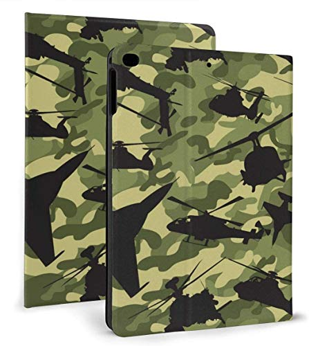 Air Force Camouflage Double Brushed PU Leather Smart Case Función Auto Sleep / Wake para iPad Mini 4/5 7.9 'y iPad Air 1/2 9.7' Case
