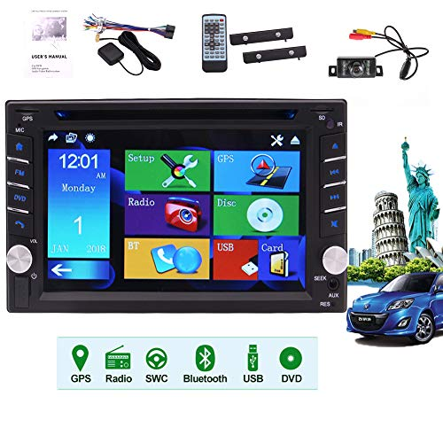 auto radio with dvd cds Newest Win Car Stereo System Double Din Car DVD Player Autoradio Bluetooth Head Unit 2 Din Car Radio with Bluetooth in Dasg GPS Navigation 6.2 inch Capacitive Touchscreen GPS Antenna Backup Camera