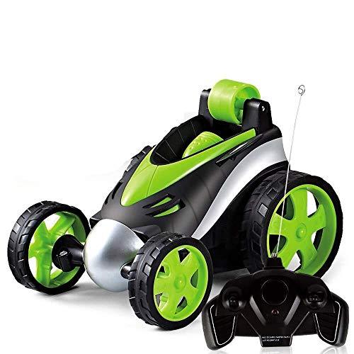 ADLIN Juguetes al aire libre for la Educación, Rc coche del truco, juguetes for niños de control remoto de coches de carreras 4Wd doble cara 360 ° giros y tirones con el LED enciende conducir coches d