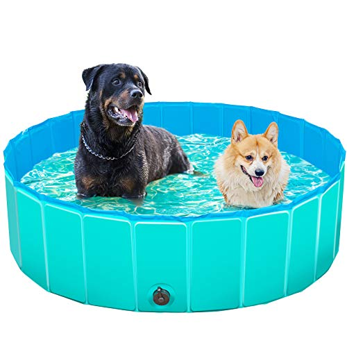 TREYWELL Dog Pool, Portable Pet Swimming Pool for Large Dogs, Foldable Kiddie Pool for Kids, Bathing...